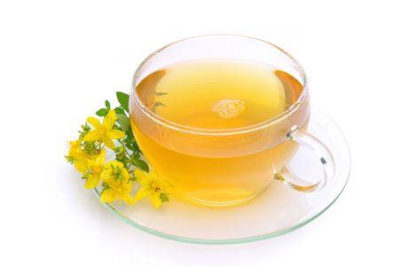 tea St Johns wort Stock Photo - 5271844