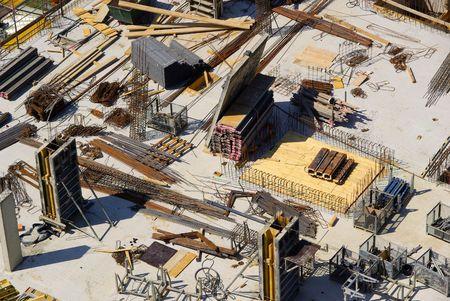 construction project: construction site 06 Stock Photo