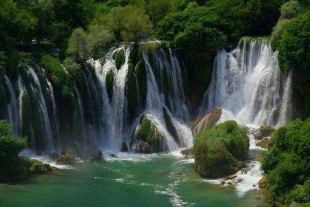 Kravica waterfall 08 Stock Photo
