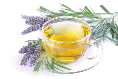 cutoff: lavender tea Stock Photo