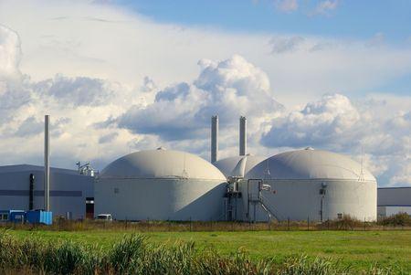 anaerobic: biogas plant  Stock Photo