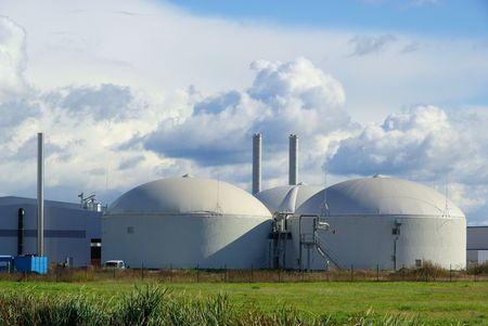 digestion: biogas plant  Stock Photo