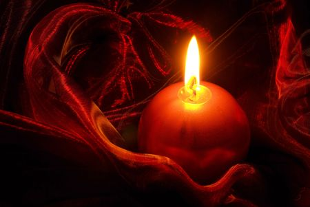 candle on red 05 photo