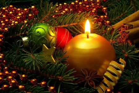 velas de navidad: Navidad Foto de archivo