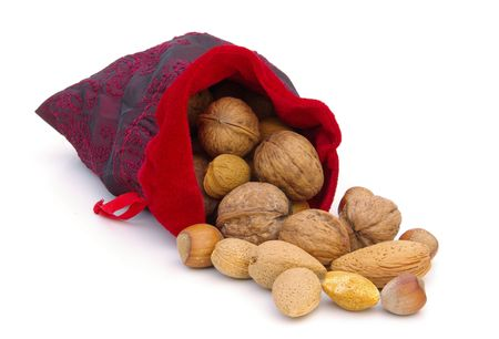 nuts in sack  photo