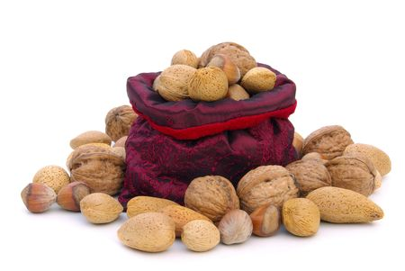 nuts in sack  Stock Photo - 6004334