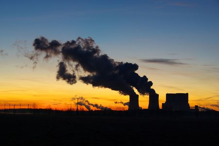 Schwarze Pumpe power plant sunset 01 photo