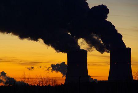 Schwarze Pumpe power plant sunset photo