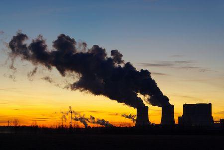 Schwarze Pumpe power plant sunset 05 photo