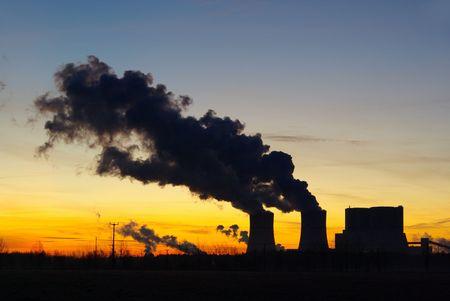 Schwarze Pumpe power plant sunset 07 photo