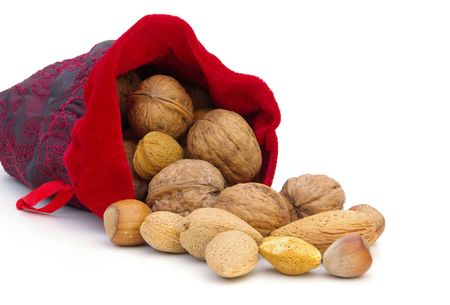 nuts in sack 01 photo