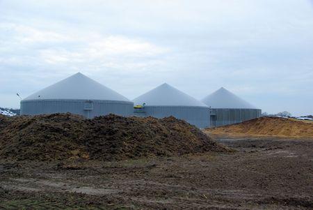 anaerobic: biogas plant 49 Stock Photo