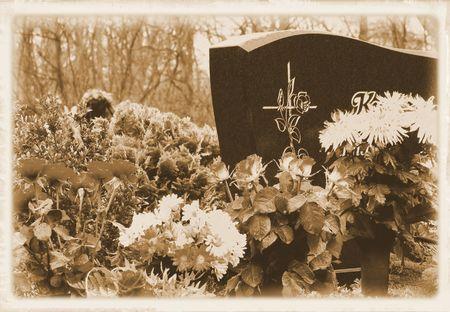 floral arrangement cemetery Stock Photo - 6122805