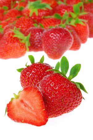 strawberry isolated 09 Stock Photo