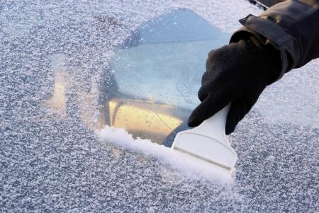 ruitenwisser: ijs slijmen zijn 02 Stockfoto