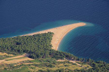brac: zlatni rat in Croatia