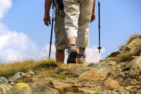 hiking boot: hiking Stock Photo