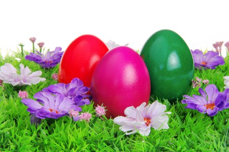easter eggs on flower meadow Stock Photo - 6906021
