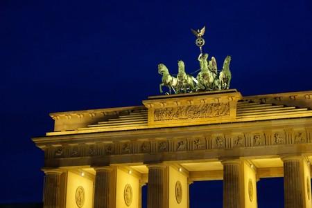 Berlin Brandenburg Gate night 05 photo
