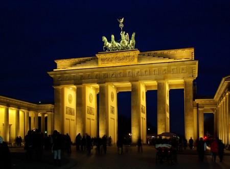 Berlin Brandenburg Gate night  photo
