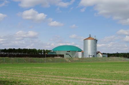 anaerobic: biomass plant Stock Photo