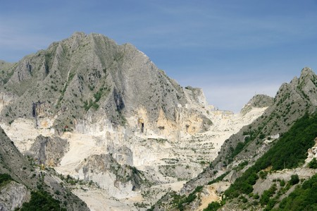 Carrara  marble stone pit 02 photo