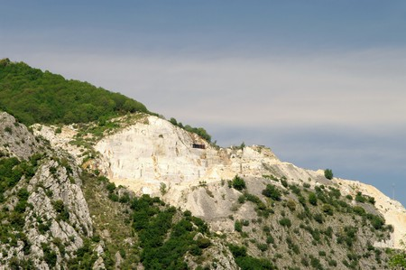 Carrara marble stone pit Stock Photo - 11244613