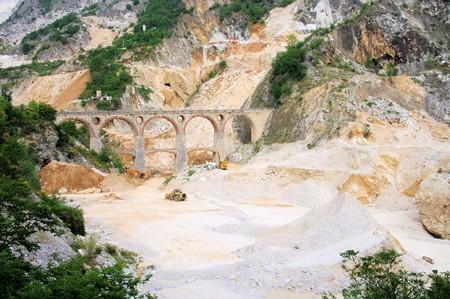 Carrara  marble stone pit Stock Photo - 7417312