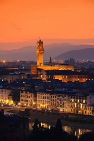 palazzo: Florence Palazzo Vecchio evening 01