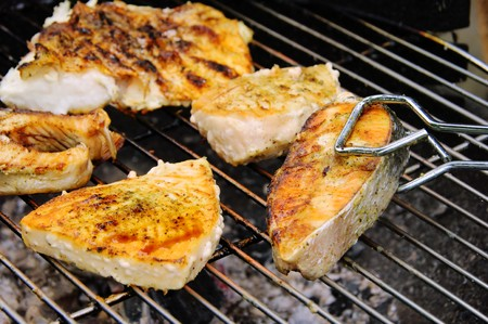 grilling fish photo