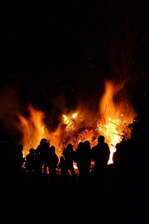 burns night: fire