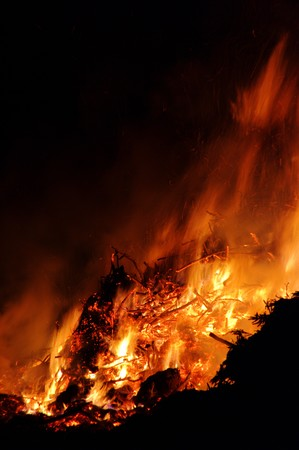 schein: Hexenfeuer - Walpurgis Night bonfire 83 Stock Photo