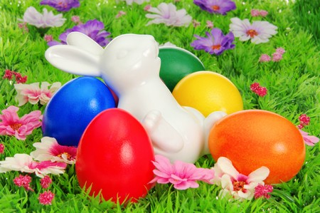 easter eggs on flower meadow Stock Photo - 8031945