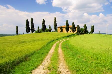 podere: Tuscany Stock Photo