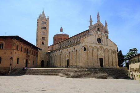 massa: Massa Marittima cathedral  Stock Photo