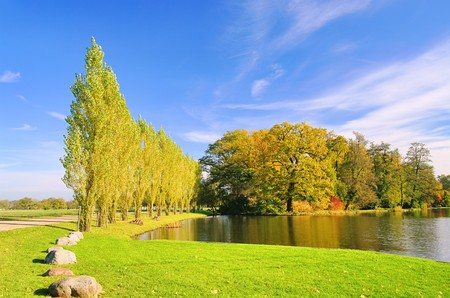 realm: English Grounds of Woerlitz lake 09 Stock Photo