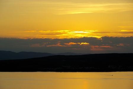 krk: Krk sunset  Stock Photo