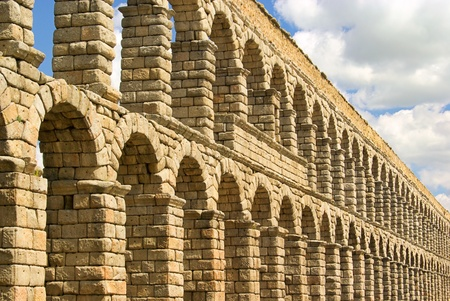 segovia: Segovia Aqueduct  Stock Photo