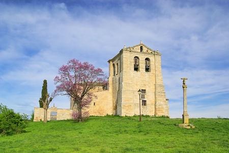 cid: Vivar del Cid church Stock Photo