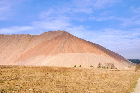 overburden: Zielitz potash salt dump Stock Photo