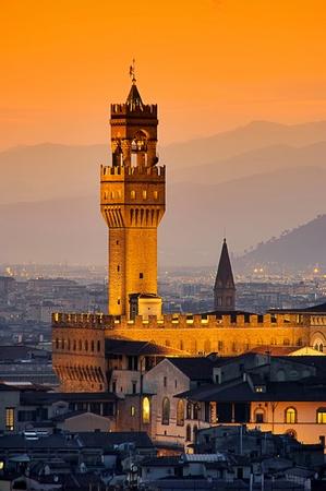 palazzo: Florence Palazzo Vecchio evening 04