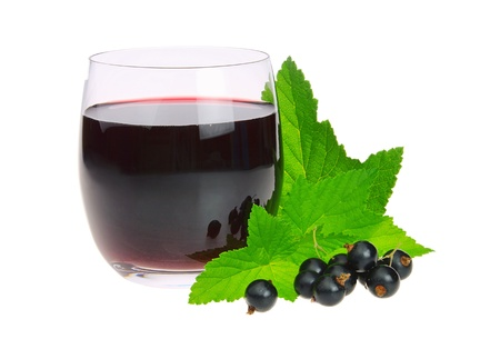 currants: black currant juice 01 Stock Photo