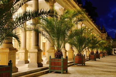 vary: Karlovy Vary Mill Colonnade night
