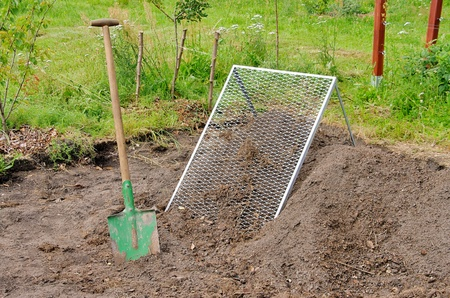 compost pile sieve  photo