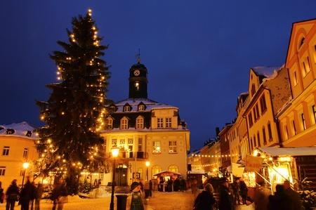 striezelmarkt: Schwarzenberg Christmas market  Editorial