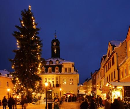 erz: Schwarzenberg Christmas market  Editorial