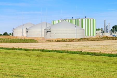 biomasa: planta de biog�s 78 Foto de archivo