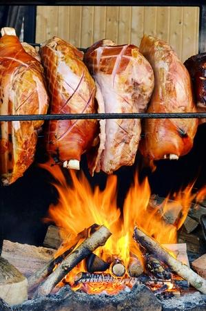 jarret: grillling jarret de porc Banque d'images