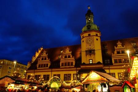 striezelmarkt: Leipzig christmas market 01 Editorial