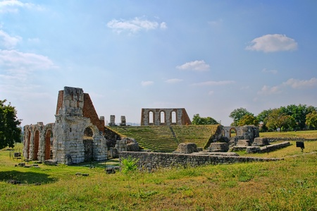 amphitheatre: Gubbio amphitheatre
